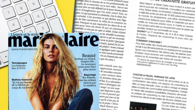 Chester&Fields Coworking Boutique featuring in Marie-Claire Magazine
