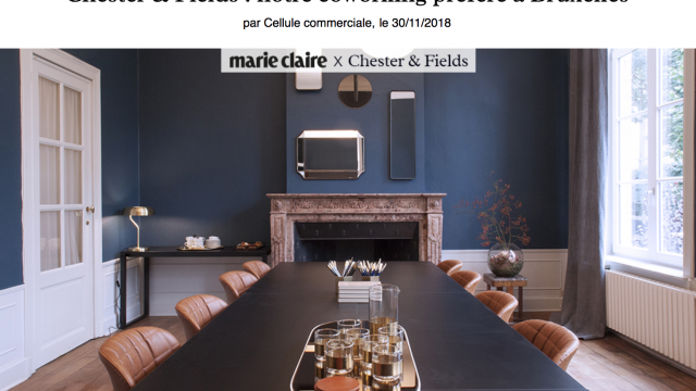 Chester&Fields coworking boutique dans Marie Claire